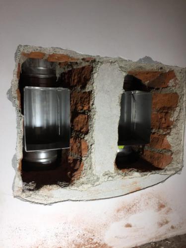 Vložkování dvou komínových průduchů