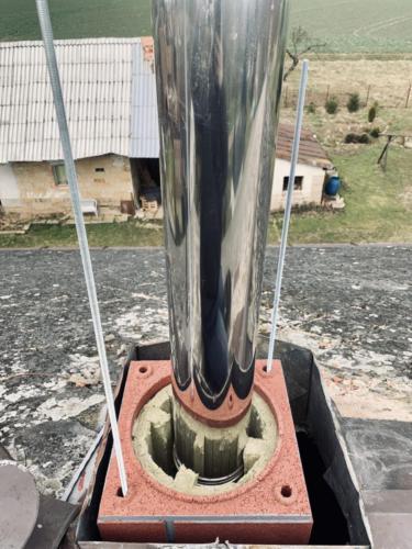 Výstavba komínového tělesa