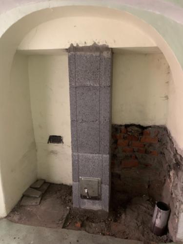 Výstavba neúčinné výšky komína
