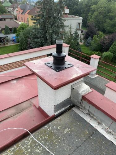 Ukončení komínového průduchu od kondenzačního kotle